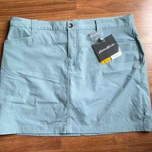 Eddie Bauer NWT Travex Flexion aqua skirt, size 14